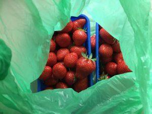 Erdbeertüte